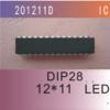 IC ไดร์เวอร์ 201211DIP LED ควบคุมการแสดงผลระดับคลื่นเพลงเสียง