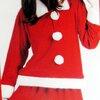 ชุดซานตาครอส  สำหรับผู้ใหญ่ หญิง  ผ้าสำลี ครบเซ็ท