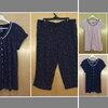 เอว40-44 ชุดนอนคนอ้วน แบรนด์ SECRET TREASURES ชุดนอนผ้าเนื้อนิ่ม เสื้อ+กางเกง ลายจุด