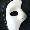 หน้ากาก แฟนธ่อม ครึ่งเสี้ยว สีขาว Phantom of the Opera Half Mask