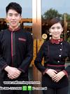 เสื้อพนักงานต้อนรับสีดำแขนยาว