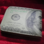 กระเป๋าสตางค์แบงค์ 100ดอลล่าห์ (แบบหนัง)  US 100 Dollar Pocket Money