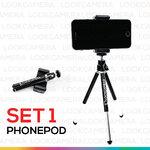 Phonepod (Set1) ขาตั้งกล้องมือถือพร้อมตัวจับ