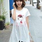 เสื้อคลุมท้องแฟชั่น สีขาว สกีนลายsnoopy น่ารักค่ะ