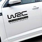 สติ๊กเกอร์ WRC ขนาด 12.5x27.5 CM สีดำ (1Pack/1คู่)