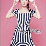 Jenny '50s Style Mixed Striped Dress