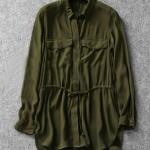 เสื้อเชิ้ตสีเขียวทหาร สไตล์ยุโรป [ขายส่ง 450.-*]