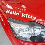 สติ๊กเกอร์ Hello Kitty ขนาด 29 * 12 ซม สีขาว