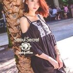 Ladies Bohemian Black&White Off-Shoulder Mini Dress by Seoul Secret