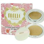 [ พร้อมส่ง ] Mille Whitening Rose Powder Pact SPF48 #2