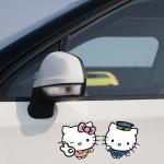 สติ๊กเกอร์ Hello Kitty คู่รักหวานแหวว (8*17 CM)
