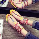 รองเท้าแตะรัดส้นสีรุ้งสไตล์ valentino [ขายส่ง 300.-*]