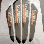 สติ๊กเกอร์ติดรถยนต์ Cushion Door Guard WRC สีดำ (1 pack/4 ชิ้น)