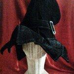 หมวก แม่มด แฟนซี สีดำ