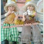 ตุ๊กตาเรซิ่นคู่ห้อยขา ชุดหมวกกล้วย (size S) น่ารักมากๆ