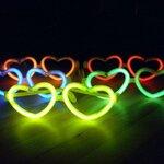 แว่นตาเรืองแสง รูปหัวใจ ปาร์ตี้ คอนเสิร์ต