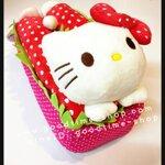ที่ใส่ทิชชู่แบบกล่องคิตตี้ Kitty สีแดง น่ารักมากๆ