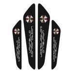 สติ๊กเกอร์ติดรถยนต์ Cushion Door Guard Umbrella corporation สีดำ (1 pack/4 ชิ้น)