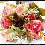 ดอกไม้ปลอมเกรดเอ กุหลาบบูเก้ โทนสีวินเทจ
