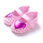 รองเท้าเด็กลายจุดแต่งหัวใจสำหรับวัยหัดเดิน [ขายส่งโหลล่ะ 1,200.-คละรวมกับราคาที่ส่งเท่ากันได้]