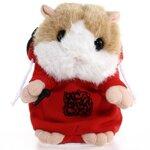 แฮมสเตอร์ แร็ฟเปอร์ เลียนเสียงพูด เต้นด้วย MC Mimicry Pet Rapper Hamster สีแดง