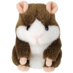 แฮมสเตอร์ เลียนเสียงพูด ไม่แร็พ Mimicry Pet Hamster สีน้ำตาล