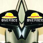 สติ๊กเกอร์ One Piece 12x7 CM (แพ็คคู๋) ตัวอักษรขาว