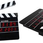นาฬิกาผู้กำกับ ดิจิตอล  Digital Slate Action Movie Alarm Clock