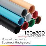 Microsheet 9 colors ( I love all the colors ) แผ่นไมโครชีท 9 สีขนาด 70x130 ซม สำเนา