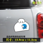 สติ๊กเกอร์ติดรถ Baymax Hold Doraemon 13.9x11.3 CM