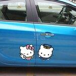 สติ๊กเกอร์ Hello Kitty คู่รักหวานแหวว (14*28 CM)