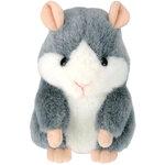 แฮมสเตอร์ เลียนเสียงพูด ไม่แร็พ Mimicry Pet Hamster สีเทา