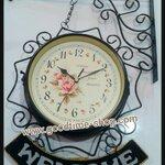 นาฬิกาแขวนผนังวินเทจ ห้อยป้ายWelcome (สีดำ)