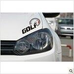 สติ๊กเกอร์ Golf Speed สีดำ ขนาด 8x14 CM (1Pack/1คู่)