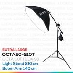 OCTA90 SOFTBOX 210T ขนาด 90 ซม. ชุดโคมไฟแปดเหลี่ยมถ่ายภาพสินค้า