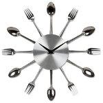 นาฬิกาดีไซน์ช้อนส้อม Kitchen Cutlery Clock