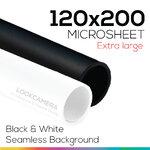 Black & White 120x200 cm ชุดคู่เริ่มต้น แผ่นไมโครชีทสีขาวและดำ (ใหญ่พิเศษ)