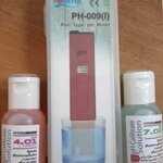 pH Meter ชนิดพกพา สำหรับมือสมัครเล่น แถมฟรี น้ำยาคาริเบต 4.0 และ 7.0