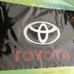 พรมกันลื่น ตรา Toyota ขนาด 11.5x18,5 cm