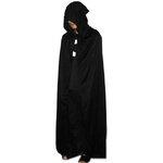 ชุดเสื้อคลุมฮาโลวีน Black Devil ชุดยาวสีดำ มีฮู้ดคลุมหัว   large black devil cloak