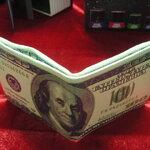 กระเป๋าสตางค์แบงค์ 100ดอลล่าห์ แปลก US 100 Dollar Pocket Money