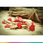 Wooden Heart Clip ไม้หนีบผ้ารูปหัวใจ