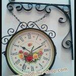 นาฬิกาแขวนผนังวินเทจ ตัวเลขโรมัน (สีดำ)