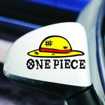 สติ๊กเกอร์ One Piece 12x7 CM (แพ็คคู๋) ตัวอักษรดำ