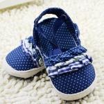 รองเท้าเด็กลายจุดแต่งระบายมี 2 สีสำหรับวัยหัดเดิน [ขายส่งโหลล่ะ 1,200.-คละรวมกับราคาที่ส่งเท่ากันได้]