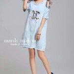 Marsh mallow's Made Chanel chic stitch Ops denim Dress