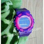 นาฬิกาus submarine สีม่วงขอบชมพู กันน้ำ (หน้าปัดเล็ก)