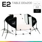 E2 โต๊ะถ่ายภาพสินค้าปรับองศา 100x200 ซม.