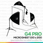 G4 PRO Microsheet 100x200 ชุดสตูดิโอแผ่นไมโครชีทพร้อมขาจับฉากหลัง