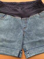 กางเกงยีนส์ขาสั้นคนท้องแฟชั่น
